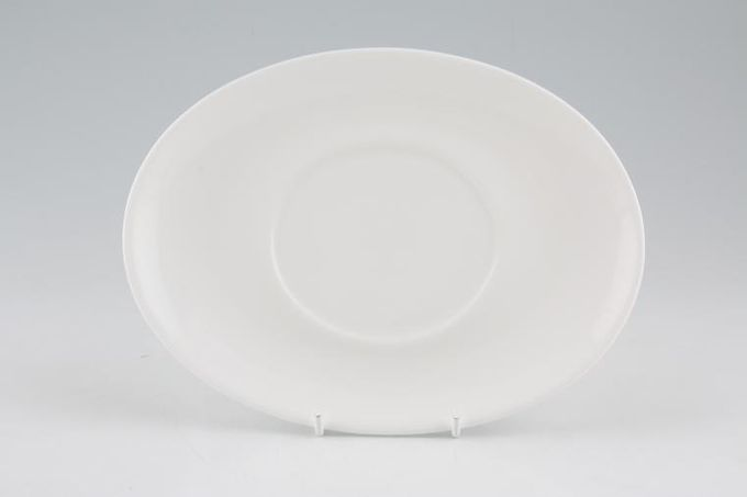 """Royal Doulton Signature White Sauce Boat Stand 8 1/4"""""""