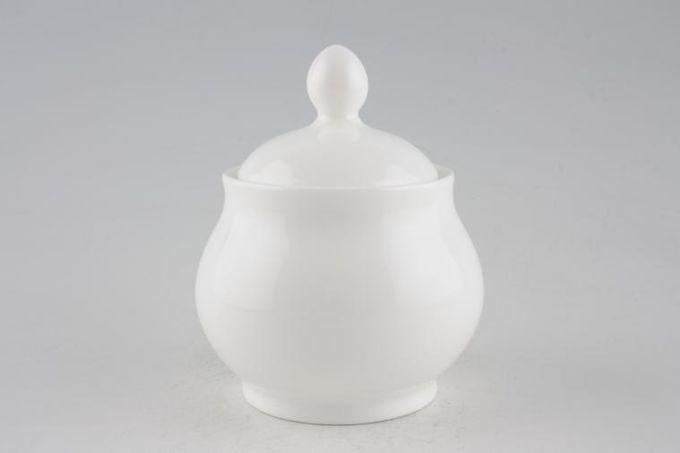 Royal Doulton Signature White Sugar Bowl - Lidded (Tea)