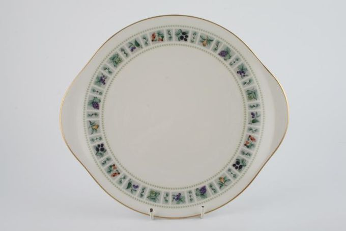 """Royal Doulton Tapestry - Fine & Translucent China T.C.1024 Cake Plate Eared 10 3/8"""""""