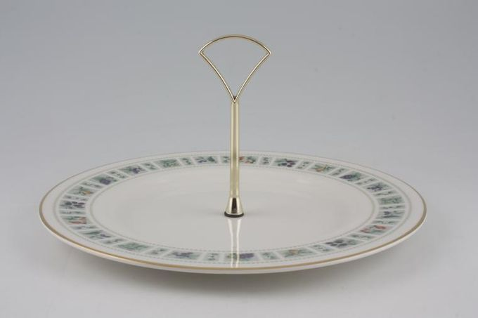 "Royal Doulton Tapestry - Fine & Translucent China T.C.1024 1 Tier Cake Stand with 10 1/2"" plate"