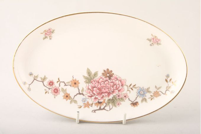 """Royal Doulton Canton - H5052 Dish (Giftware) Oval Dressing Table Tray 8 1/2"""""""