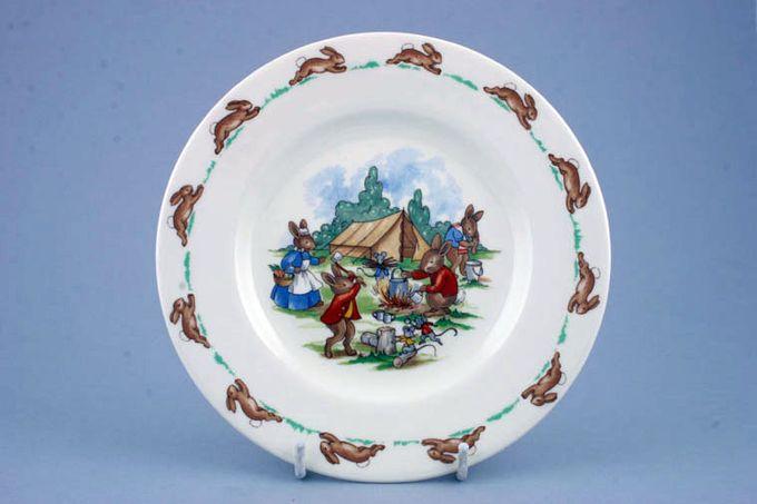 "Royal Doulton Bunnykins - 'Regd. Trade Mark' Tea / Side / Bread & Butter Plate Camping 6 3/8"""