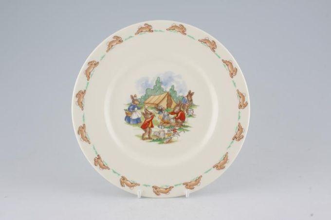 "Royal Doulton Bunnykins - 'Regd. Trade Mark' Starter / Salad / Dessert Plate Camping 8"""