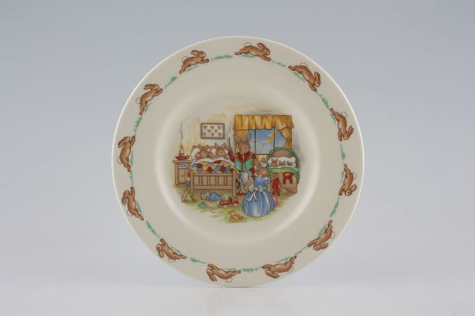Royal Doulton Bunnykins - 'Regd. Trade Mark' Tea / Side / Bread & Butter Plate Bedtime Story 6 3/8""