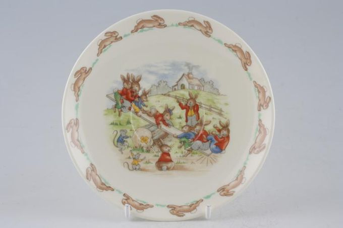 Royal Doulton Bunnykins - 'Regd. Trade Mark' Tea Saucer See-Saw 5 3/4""