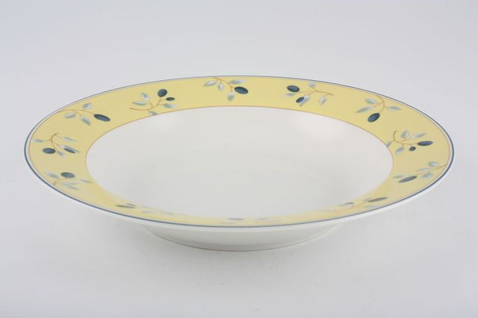 "Royal Doulton Blueberry Rimmed Bowl 8 3/8"""