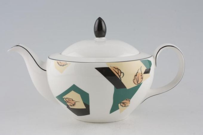 Royal Doulton Central Park - T.C.1198 Teapot No Pattern on Lid, only brown knob 1 3/4pt