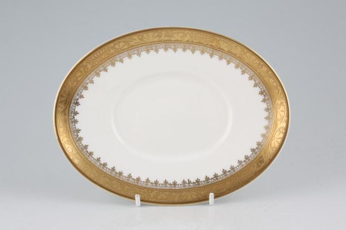 """Royal Grafton Regal - Gold Sauce Boat Stand oval 7"""""""