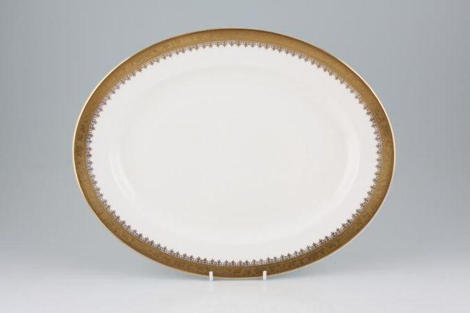 "Royal Grafton Regal - Gold Oval Plate / Platter 13 1/8"""