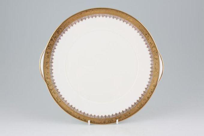 "Royal Grafton Regal - Gold Cake Plate eared 9 5/8"""