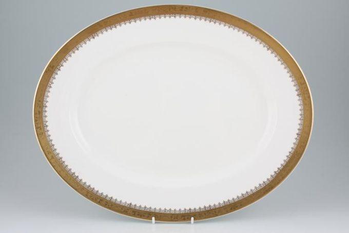 "Royal Grafton Regal - Gold Oval Plate / Platter 15 3/4"""
