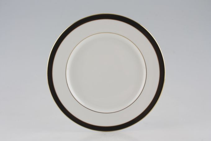 "Royal Grafton Warwick - Black Starter / Salad / Dessert Plate 8 1/8"""
