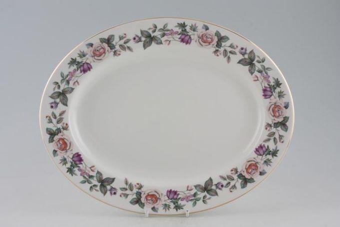 """Royal Grafton Fragrance - straight edge Oval Plate / Platter 13 1/4"""""""