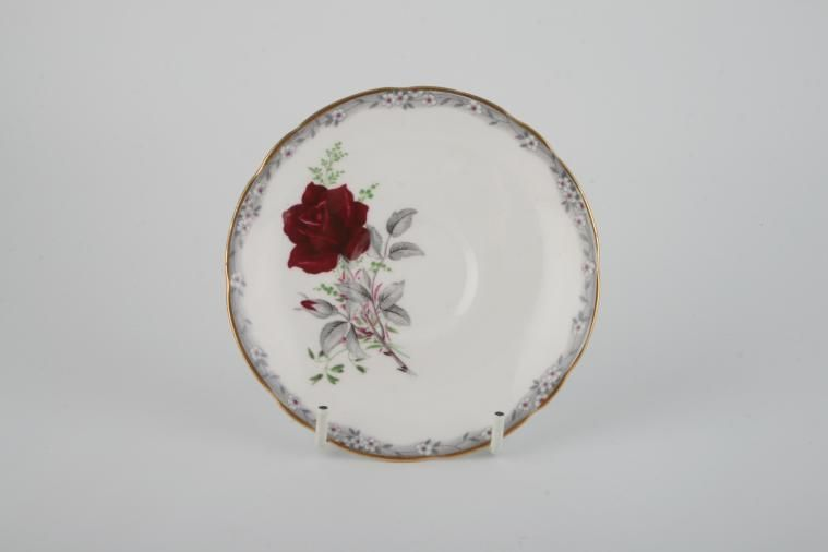 Royal Stafford - Roses To Remember - Red - Tea Saucer - Scalloped