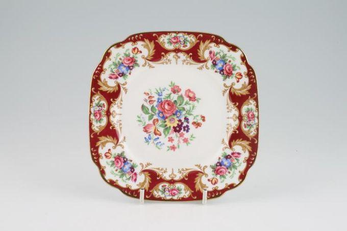 "Royal Standard Lady Fayre Tea / Side / Bread & Butter Plate square 6 1/8"""