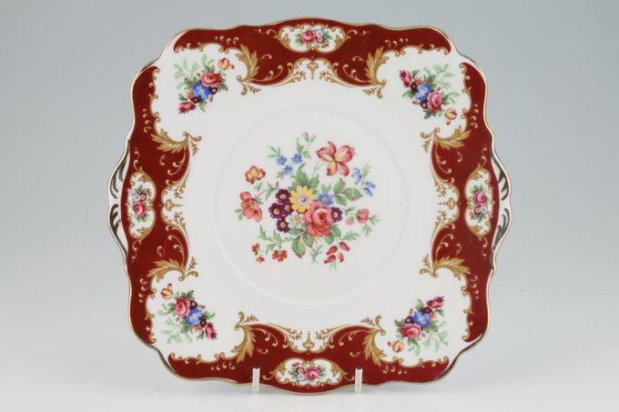 """Royal Standard Lady Fayre Cake Plate Square - eared 9"""""""