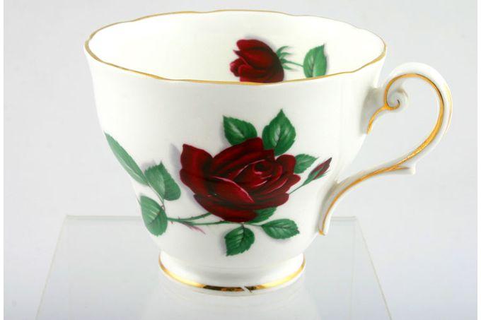 """Royal Standard Red Velvet Teacup Pear shape 3 1/2 x 2 3/4"""""""