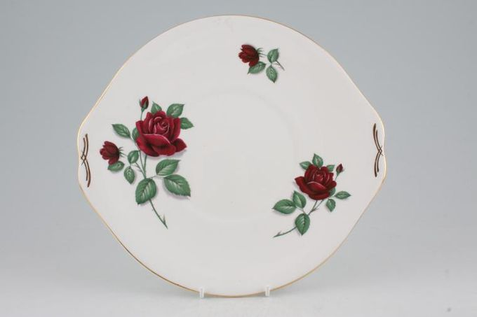 """Royal Standard Red Velvet Cake Plate round - eared 10 1/2"""""""