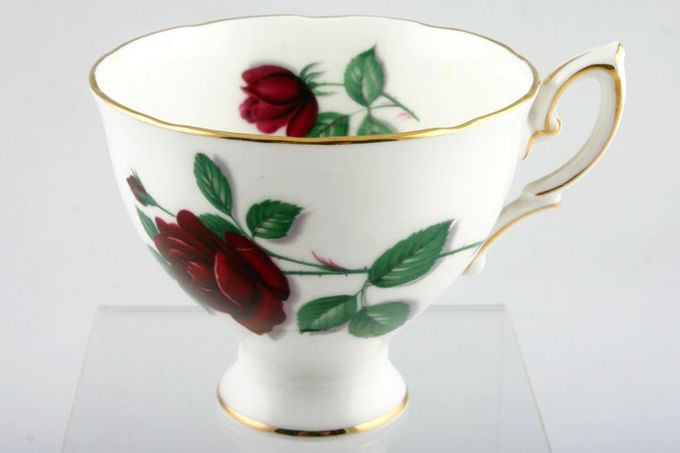 """Royal Standard Red Velvet Teacup footed 3 1/2 x 3"""""""