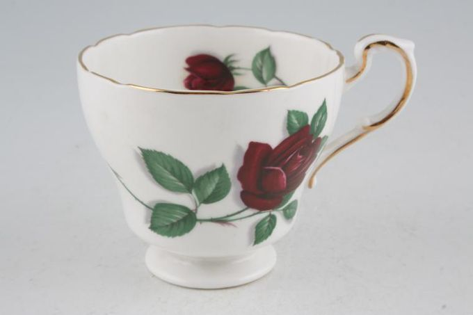 """Royal Standard Red Velvet Teacup Pear shape - no gold around foot 3 1/2 x 2 3/4"""""""