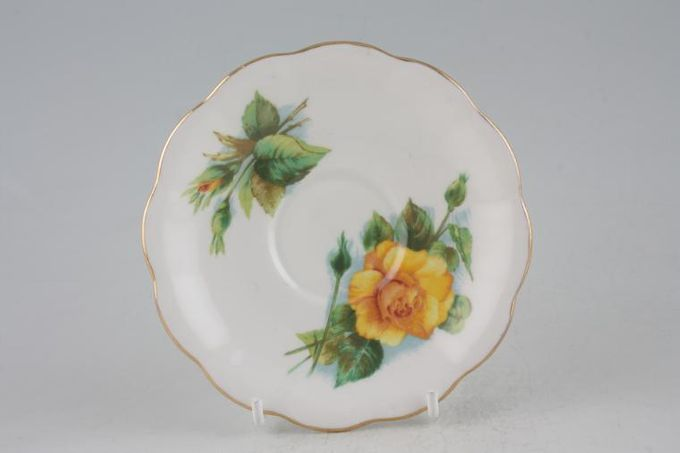 Royal Standard Harry Wheatcroft Roses - Mms Ch Sauvage Coffee Saucer 5""