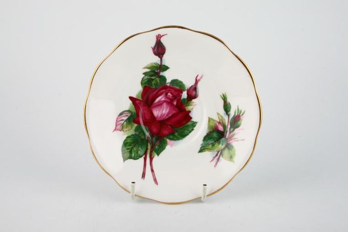 Royal Standard Harry Wheatcroft Roses - Grand Gala Tea Saucer 5 1/2""