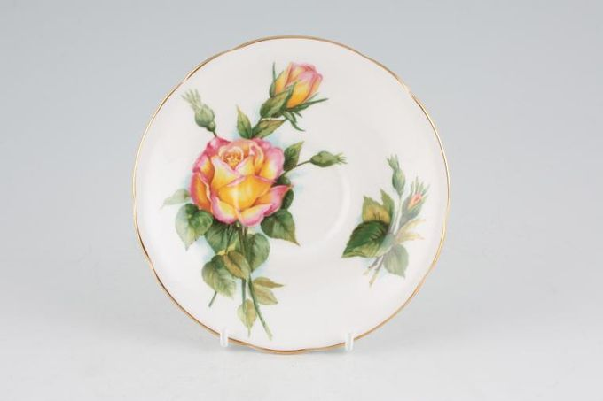 "Royal Standard Harry Wheatcroft Roses - Peace Tea Saucer 5 1/2"""