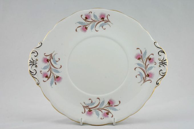 Royal Standard Caprice - Pink Cake Plate Round - Eared