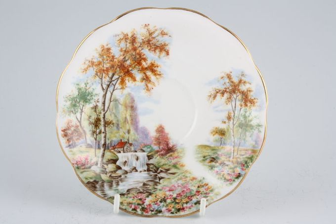 Royal Standard The Old Mill Stream Tea Saucer 5 3/4""