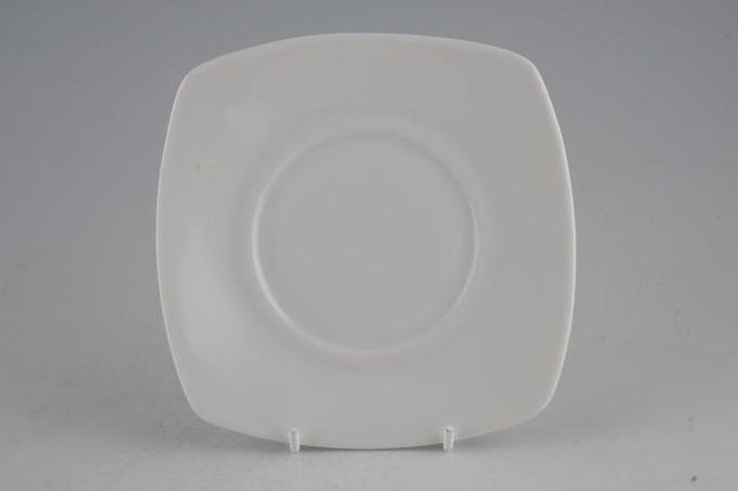 """Royal Worcester Classic White - Classics Tea Saucer Square - Fits Straight Sided Cup 6"""""""