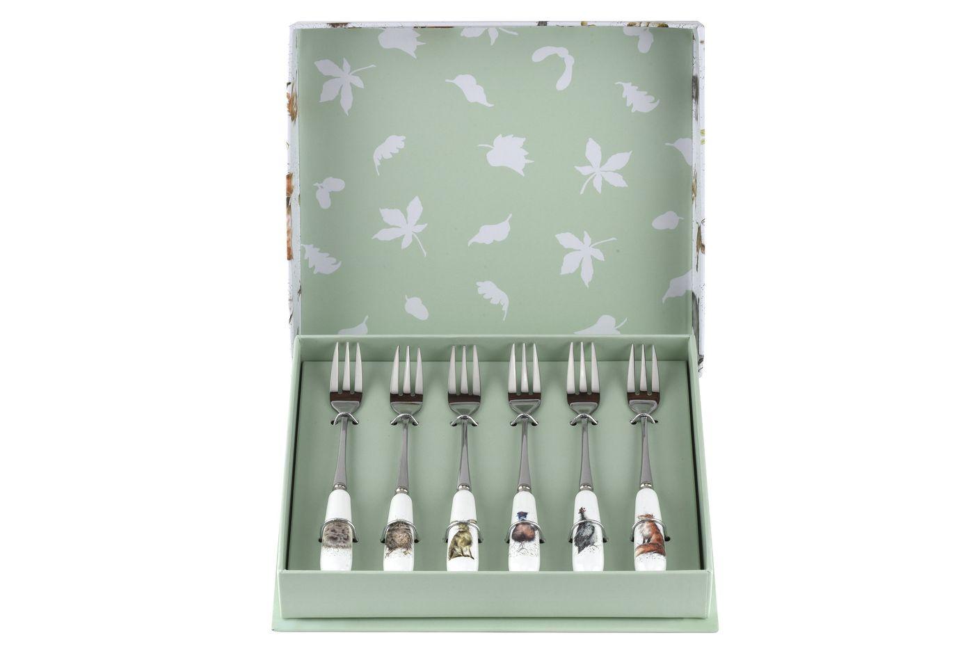 Royal Worcester Wrendale Designs Pastry Fork Set Set of 6 thumb 2
