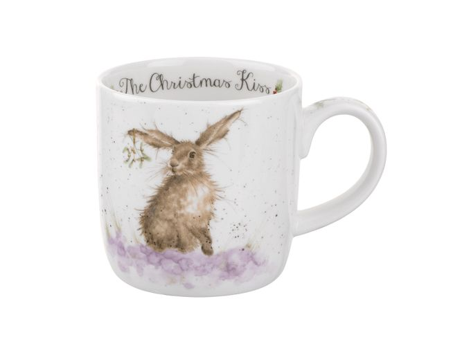 Royal Worcester Wrendale Designs Mug The Christmas Kiss (hare) 0.31l