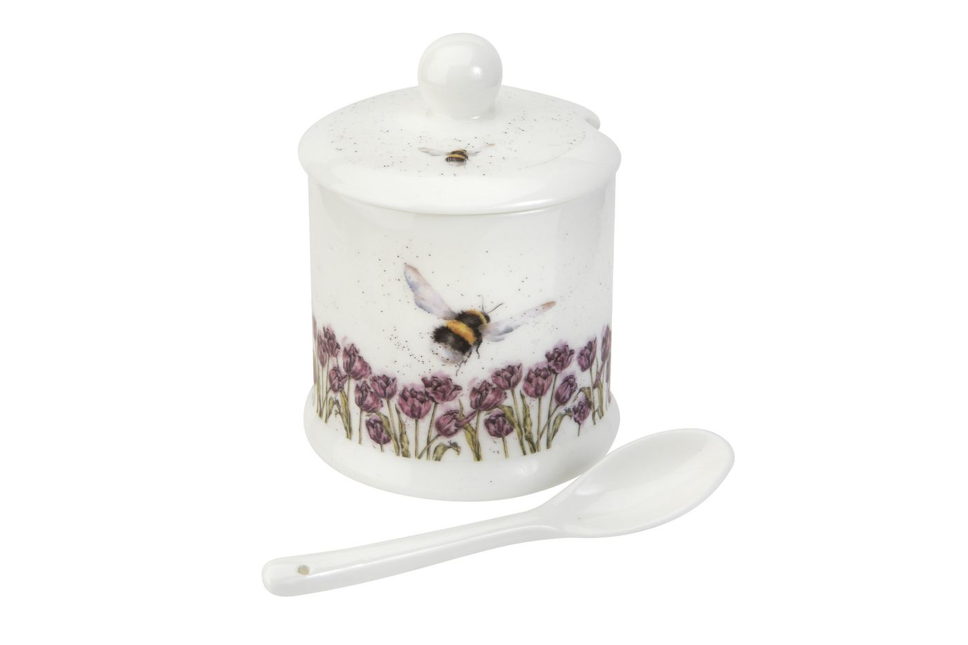 Royal Worcester Wrendale Designs Jam Pot + Lid Bumble Bee 0.11l thumb 1