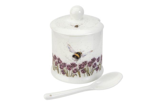 Royal Worcester Wrendale Designs Jam Pot + Lid Bumble Bee 0.11l
