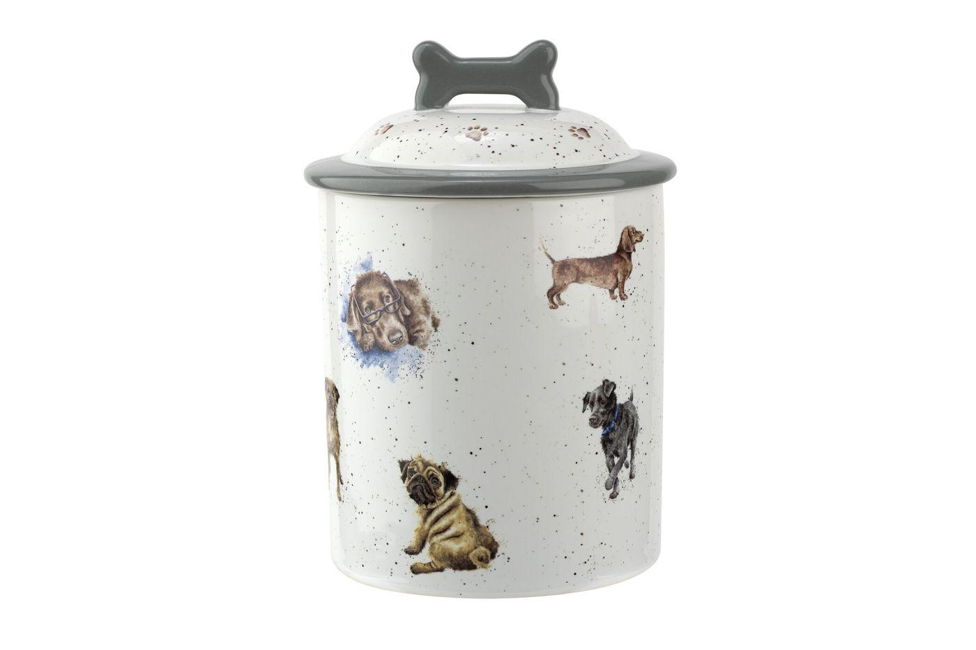 Royal Worcester Wrendale Designs Dog Treat Jar 19cm thumb 1