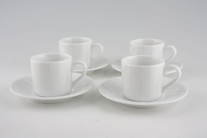 Royal Worcester Mirage - Classics Coffee Cups and Saucers - Set of 4