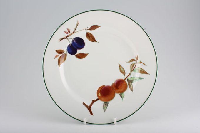 "Royal Worcester Evesham Vale Dinner Plate Plum and Peach 10 1/2"""