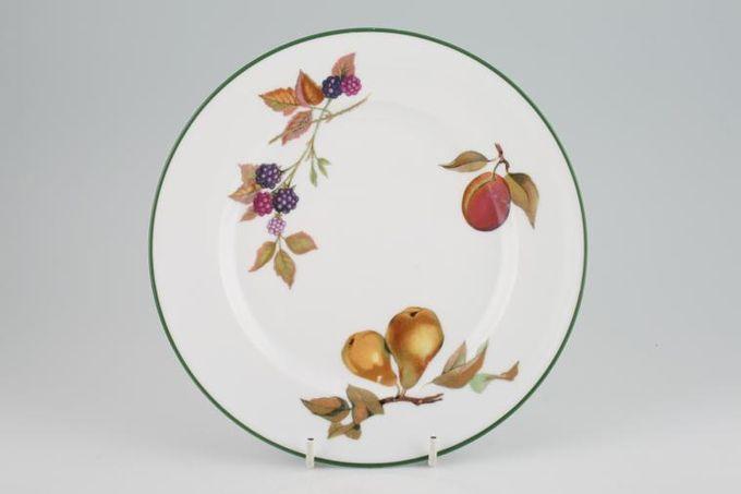 "Royal Worcester Evesham Vale Starter / Salad / Dessert Plate Pear, Red Plum, Blackberries 8 1/4"""