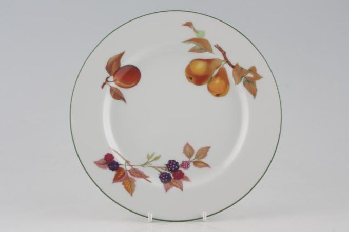 Royal Worcester Evesham Vale Breakfast / Lunch Plate Pears, Blackberry, Red Plum 8 1/2""