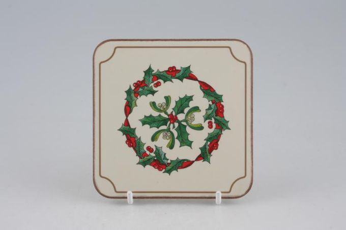 Royal Worcester Holly Ribbons Coaster Square 4""