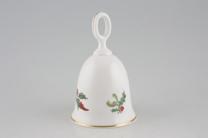 Royal Worcester Holly Ribbons Bell No donger/ Ornamental