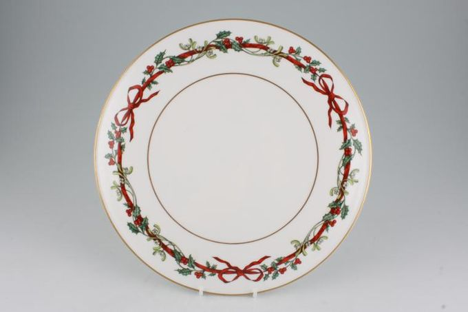Royal Worcester Holly Ribbons Gateau Plate Some Items Made Abroad