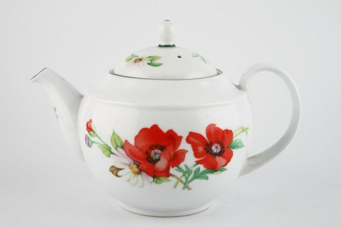 Royal Worcester Poppies Teapot 2 1/2pt