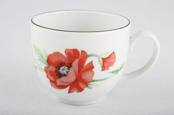 Royal Worcester Poppies Teacup 3 3/8 x 2 3/4""