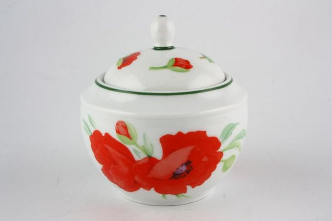 Royal Worcester Poppies Sugar Bowl - Lidded (Tea)