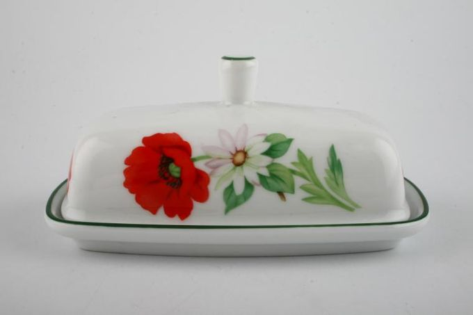 Royal Worcester Poppies Butter Dish + Lid Rectangular
