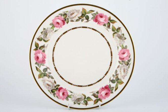 "Royal Worcester Royal Garden - Dot and Dash Inner Gold Line Dinner Plate 10 1/2"""