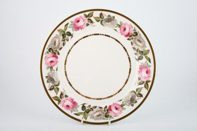 Royal Worcester Royal Garden - Dot and Dash Inner Gold Line Breakfast / Salad / Luncheon Plate 9 1/4""
