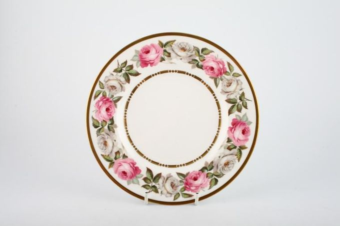 Royal Worcester Royal Garden - Dot and Dash Inner Gold Line Starter / Salad / Dessert Plate 8""