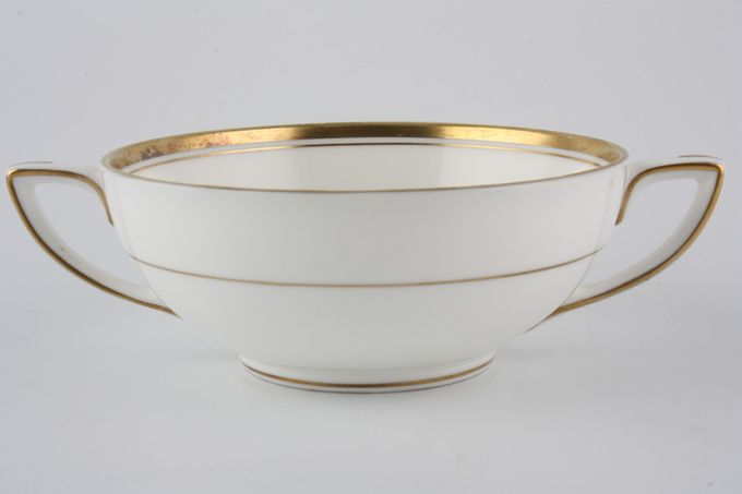 Royal Worcester Viceroy - Gold Soup Cup 2 handles /Square Handle